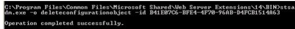 stsadm-orphaned-database