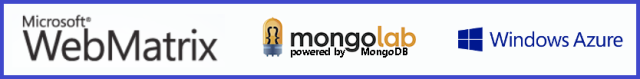 WebMatrix + MongoLab + Windows Azure