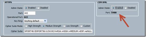 Cisco UCS CIM XML Default Port