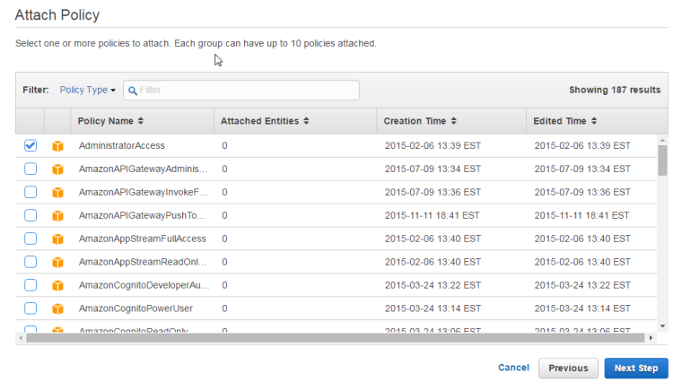 AWS-Group-Policy