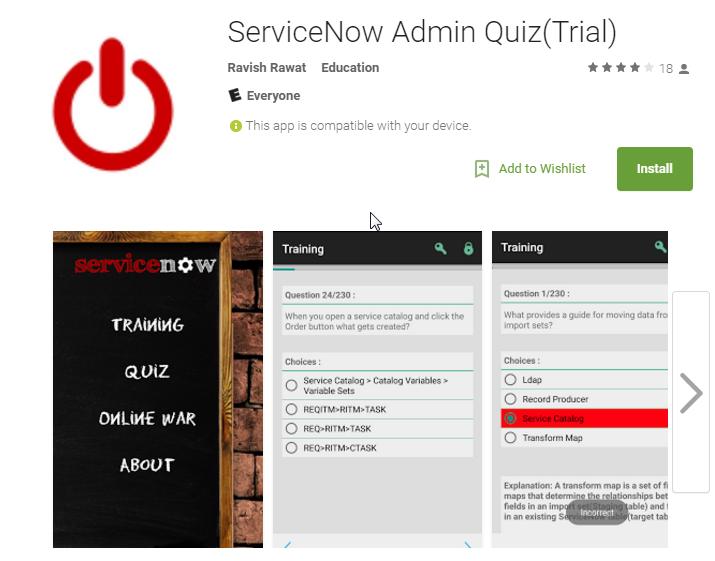 Servicenow Admin Quiz – APP – Aryan Nava
