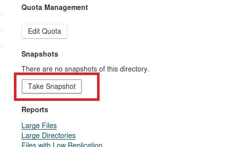 TakeSnapShot-Cloudera