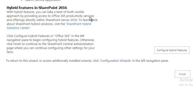 Hybrid features in SharePoint 2016