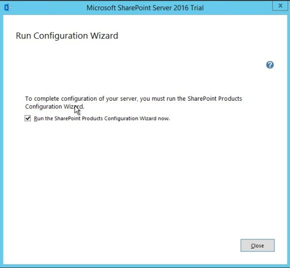 Installing-SharePoint-2016-Run-Configuration