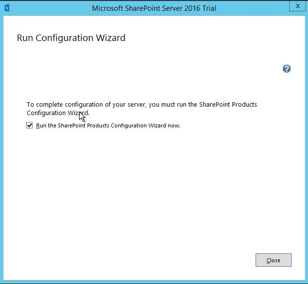 Installing-SharePoint-2016-Run-Configuration