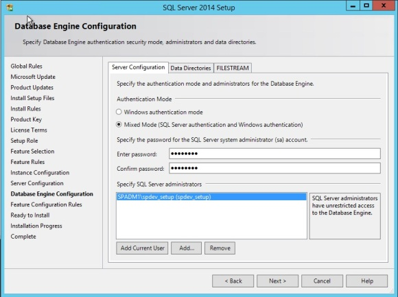 SQL Server install error Wait on the Database Engine Recovery Handle Failed-ServerConfigurationt