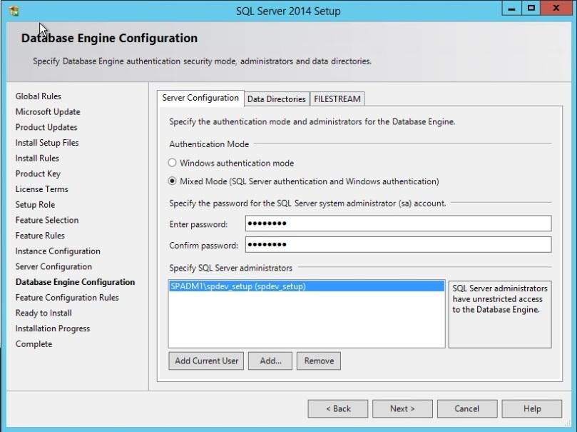 SQL Server install error Wait on the Database Engine Recovery Handle Failed-ServerConfigurationt