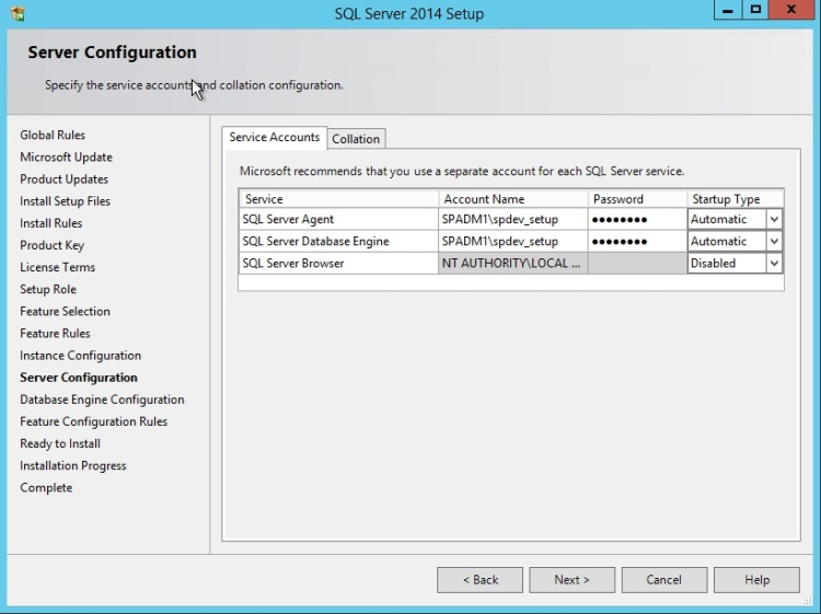 SQL Server install error Wait on the Database Engine Recovery Handle Failed-service-account