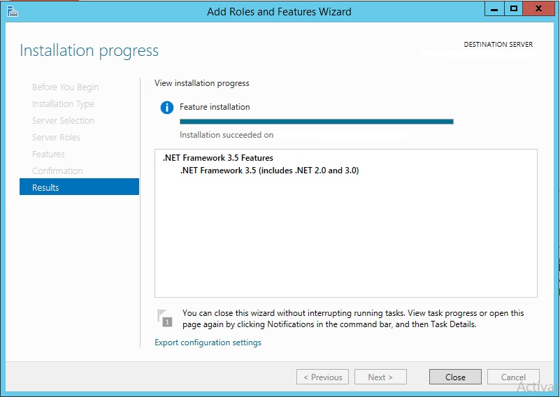 You must use the Role Management Tool to install or configure Microsoft .NET