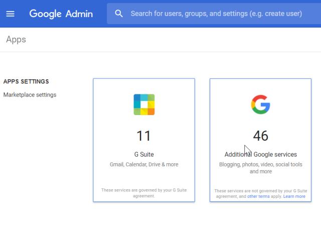Google-Admin console - 1