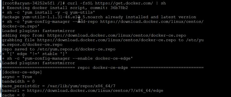 curl -fsSL https-get.docker.com - sh