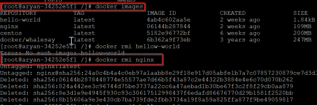 view-docker-images-and-remove-docker-images-command